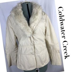 COLDWATER CREEK Jacket Fur Collar